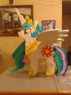 Piñatas My Little Pony Celestia, Luna, Pinky Pie, Caricatura - $ 359.00