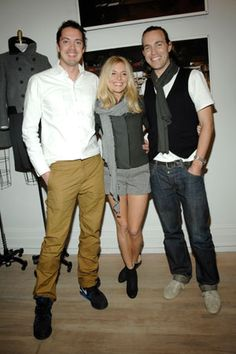 Marcus Wainwright and David Neville with Sienna Miller -