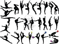 The gymnastics silhouttes                                                       …