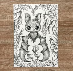 Vampire Bat - Original Inktober Drawing