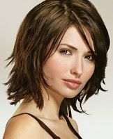 Shoulder-Length Hairstyles for Round Faces | Shoulder-Length Layers