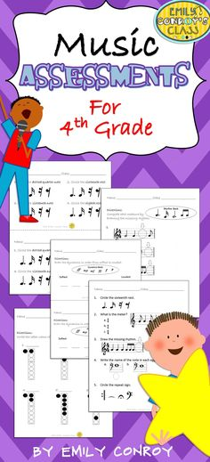 This set includes 12 formative assessments for fourth grade music students and one cumulative assessment to use as a pre or post-assessment!