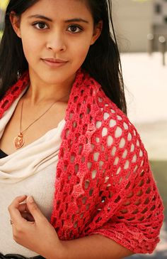 Grantangle Shawl by Amy O'Neill Houck + Miriam Felton. -Free pattern. Follow link if you are new to crochet. This pattern is preceded by a excellent introduction to granny squares.  The first thing to learn if you are teaching yourself to crochet, in my opinion.