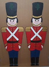 christmas wooden soldiers yard art screwdriver ready - Christmas Decorations Wooden Soldiers