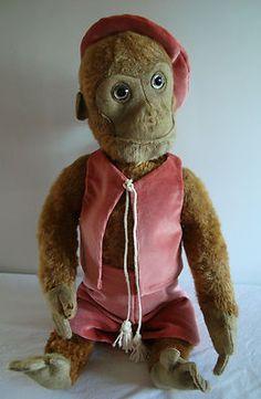 """Vintage German Schuco Yes/No 1920's 19"""" Monkey. A Real cutie !  Photo via ebay...."""