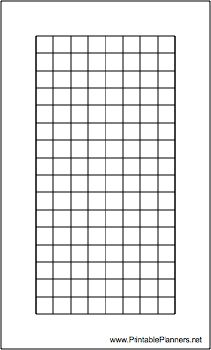 This daily planner page of grid or graph paper is Hipster PDA (index card) sized and is oriented vertically. Free to download and print