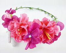 New Women Wedding Rose Flower Wreath headband Kids Party Floral garlands flower crown Hair Accessories Bridal wedding party(China (Mainland))