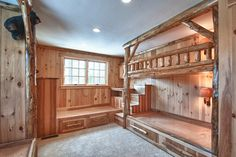 Log Bunk Bed Room - rustic - Bedroom - Boston - Skiffington Homes