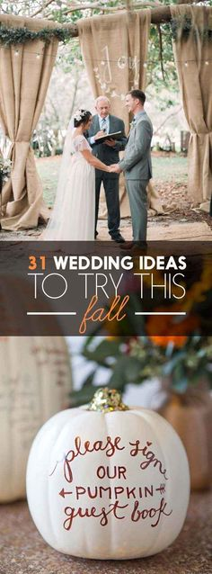 31 Beautiful Fall Wedding Ideas You'll Want To Try