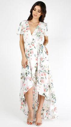 Weekend Bell Sleeve Maxi Wrap Dress