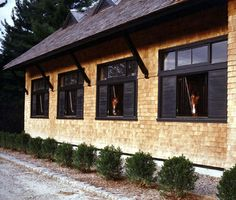 Brick stables with open windows