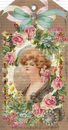 Victoria Rose Tags - Romantic Vintage Inspired Exclusive & Original Designs Hang Tags Printables