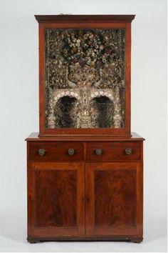 The Penrose Irish Shell Cabinet, made by Elizabeth Penrose, c1800