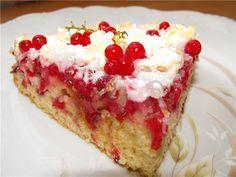 Пирог Смородина под снегом рецепт с фотографиями