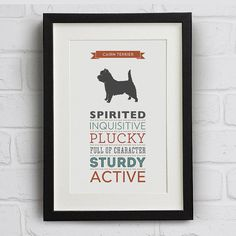 Hey, I found this really awesome Etsy listing at https://www.etsy.com/listing/186928922/cairn-terrier-dog-breed-traits-print