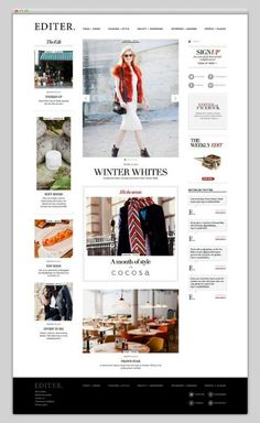 #Fashion magazine #webdesign