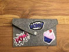 Buy Now- Kuvertclutch POW - ein Designerstück von Madamme-Julie bei DaWanda Shops, Buy Now, Etsy, Stuff To Buy, Tents, Retail, Retail Stores
