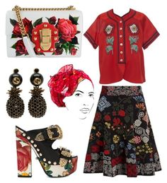 """Untitled #339"" by denis-bogdan-siminiuc on Polyvore featuring Alexander McQueen, Gucci, FAUSTO PUGLISI, Dolce&Gabbana and Rinati Lakel"