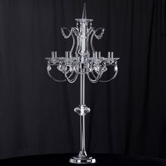 Elegant Candelabra with 6 arms designated for candles or lights. Manzanita Centerpiece, Centerpiece Decorations, Wedding Table Centerpieces, Gold Ceiling, Ceiling Chandelier, Chandelier Wedding, Pillar Candle Holders, Votive Candles, Imperial Design
