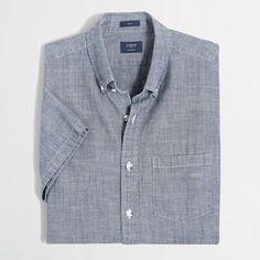 Cotton. Slim fit. Button-down collar. Machine wash. Import.
