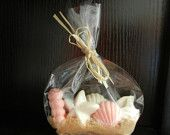 Unique Chocolate Seashell Favors - Beach Wedding - Out of Town Bags - Bridal Shower
