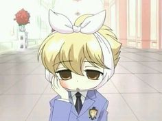 Ouran ~~~ Poor Honey-senpai. That's what you get for eating too many sweets.
