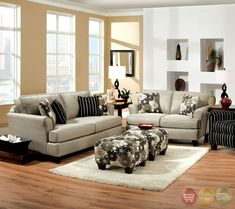 Furniture & Design :: Living room furniture :: Sofas and Sets :: Sofa Sets Made in USA :: 2 pc Cardiff contemporary style light gray fabric Sofa and love seat set with flared set back arms Made in the USA Living Room Grey, Living Room Sets, Living Room Chairs, Living Room Furniture, Living Area, Living Spaces, Nebraska Furniture Mart, Contemporary Sofa, Fabric Sofa