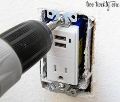 installing USB receptacle