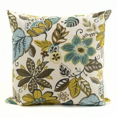 Turquoise Floral Milly Pillow | Kirkland's