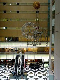 "The world's biggest Pendulum Clock 'Yukkuri Rhythm'  -- means ""slow rhythm"" of SEIKO in the Guinness book of world records.    Shinjyuku Tokyo,  Public Clock Photography by Arjan Richter"