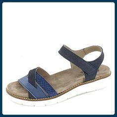 Aco Sandalette Nora 03 Größe 41, Farbe: blau - Sandalen für frauen (*Partner-Link)