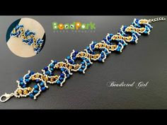 Beaded Bracelets, Beading Tutorials, Beading Patterns, Bead Jewellery, Jewelery, Diy Crown, Diy Tutorial, Website Tutorial, Bracelets
