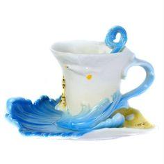 Choholete Porcelain Coffee Cup Set Blue Sea 1 Cup 1 Saucer 1 Spoon Choholete http://www.amazon.com/dp/B00M40I0W4/ref=cm_sw_r_pi_dp_Nslkub0DMZ92D