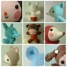 Crochet Creatures Tutorial--that interesting texture you see is because she crochets entirely in slip stitches