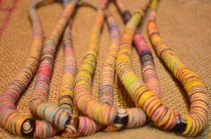 """Spiral"" necklace, handmade in Nepal from hemp fibres"
