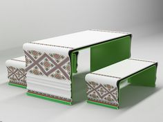 """Ukrainian Patterns"", Studio:Yaroslav Galant innovative design  - ""Corian® Springs Russian Design"", Milan Design Week 2012. #corian"