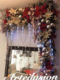 Hermosa novedad navideña Na / Large Christmas Baubles, Christmas Swags, Christmas Mantels, Christmas Door, Holiday Wreaths, Christmas Holidays, Christmas Crafts, Christmas Ornaments, Holiday Decor