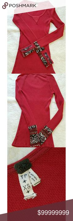 COMING SOON FREE PEOPLE RED THERMAL Free People red thermal Free People Tops Sweatshirts & Hoodies