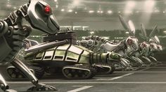 Dino Robots HD Wallpaper for Desktop