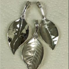 Latest collection of sterling silver spoon/leaf pendants