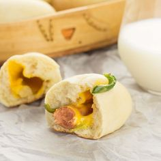 These Kolaches are similar to Pigs in a Blanket and are stuffed with cheese, smoked sausage, and jalapeños.