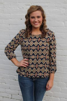 Tribal Me Pretty Top $32