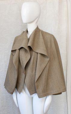 Vintage Issey Miyake cape coat.