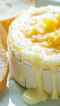 Sweet and Spicy Peach-Baked Brie