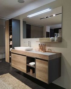 Gorgeous Latest Bathroom Decor Ideas That Match With Your Home Design. furniture Latest Bathroom Decor Ideas That Match With Your Home Design Relaxing Bathroom, Contemporary Bathroom Designs, Contemporary Interior, Simple Bathroom, Bathroom Ideas, Bathroom Organization, Bathroom Storage, Minimal Bathroom, Bathroom Inspo