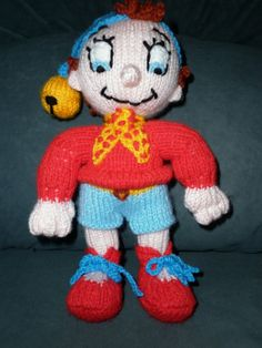 Noddy is designed by Alan Dart by Marionsknittedtoys on Etsy, $20.00