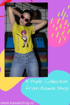 Launching our new K Punk collection over at Kawaii Shop HQ. Come check us out for -20% Kawaii Shop, Kawaii Fashion, Korean Fashion, Fashion Art, Product Launch, Punk, Crop Tops, Hoodies, Check