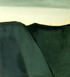 'North Otago Landscape' by New Zealand painter Colin McCahon via Junk for Code Abstract Landscape, Landscape Paintings, Arthur Dove, New Zealand Landscape, New Zealand Art, Nz Art, Contemporary Artwork, Color Of Life, Artist Art
