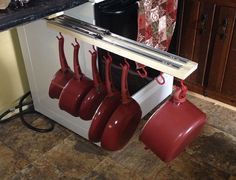 DIY Under the Counter Pull out Pots and Pans Rack