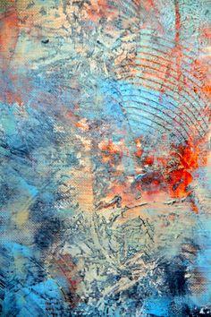 "Telise Rodelv ""Awakening"" oil and cold wax"